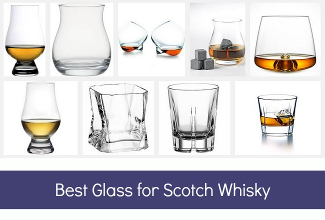 Single whisky glass