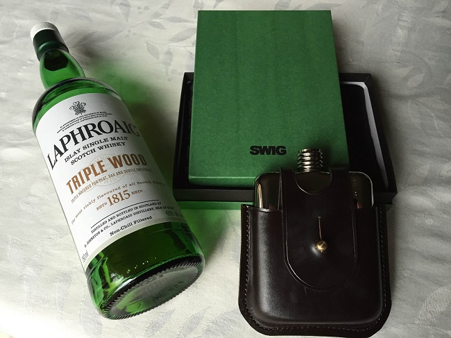 SWIG Leather Flask