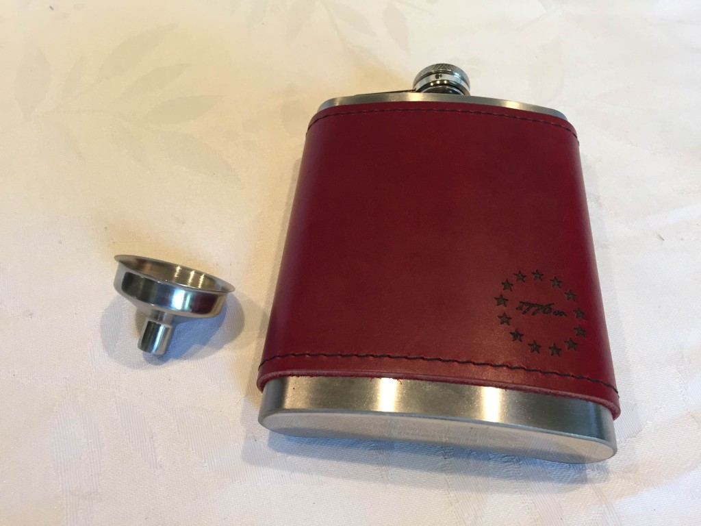 1776.co  Leather Flask
